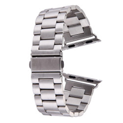 Silver Apple Watch 1,2,3,4(40mm,38mm) Butterfly Stainless Steel Watch Strap   Stainless Steel Apple Watch Bands   iCoverLover