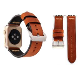 Coffee Retro Genuine Leather Wristwatch Strap 44mm,42mm for Apple Watch Series 1,2,3 and 4 | Genuine Leather Apple Watch Bands | iCoverLover
