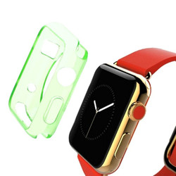 Green Apple Watch 1,2,3,4 (44mm,42mm) Slim TPU Protective Case | Silicone Sports Apple Watch Cases | iCoverLover