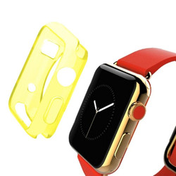 Yellow Apple Watch 1,2,3,4 (44mm,42mm) Slim TPU Protective Case   Silicone Sports Apple Watch Cases   iCoverLover