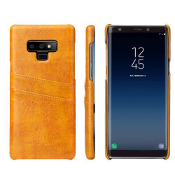 Samsung Galaxy Note 9 Case Yellow Deluxe Leather Back Shell Cover | Leather Samsung Galaxy Note 9 Covers | Leather Samsung Galaxy Note 9 Cases | iCoverLover