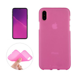 iPhone XS MAX Back Case Magenta Solid Frosted Soft TPU Cover | Protective Apple iPhone XS MAX Covers | Protective Apple iPhone XS MAX Cases | iCoverLover