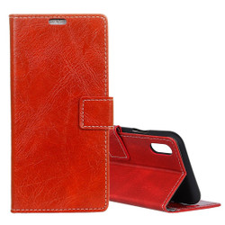 Red Retro Wild Horse Texture Leather Wallet iPhone XS MAX Case | Leather Apple iPhone XS MAX Cases | Leather Apple iPhone XS MAX Covers | iCoverLover