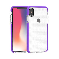 Purple Basketball Texture Anti-collision TPU iPhone XS MAX Case | Protective Apple iPhone XS MAX Cases | Protective Apple iPhone XS MAX Covers | iCoverLover