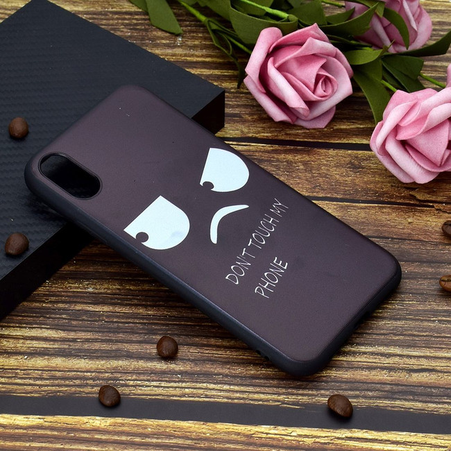 iPhone XS Max Case Angry Face Painted Soft TPU Protective Back Shell Cover | Protective Apple iPhone XS Max Covers | Protective Apple iPhone XS Max Cases | iCoverLover
