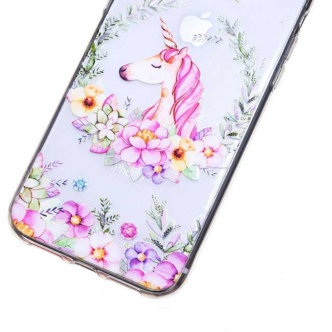 iPhone XR Case Flower Unicorn Embellished Transparent Soft TPU Protective Cover | Protective Apple iPhone XR Covers | Protective Apple iPhone XR Cases | iCoverLover