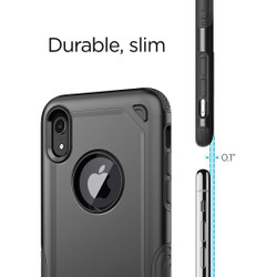 iPhone XR Case Black Shockproof Rugged Armor Protective Cover with Wireless Charging Support | Armor Apple iPhone XR Covers | Armor Apple iPhone XR Cases | iCoverLover