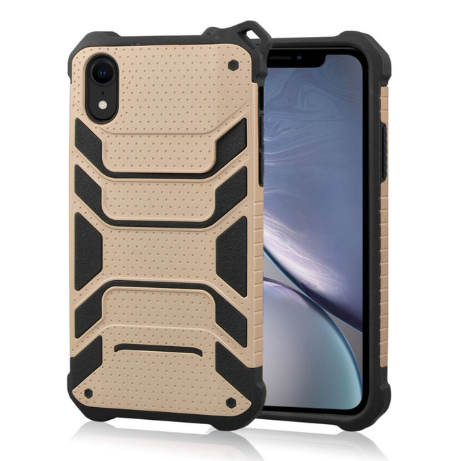 iPhone XR Rose Gold Strong Shockproof PC & TPU Armor Protective Back Shell Cover