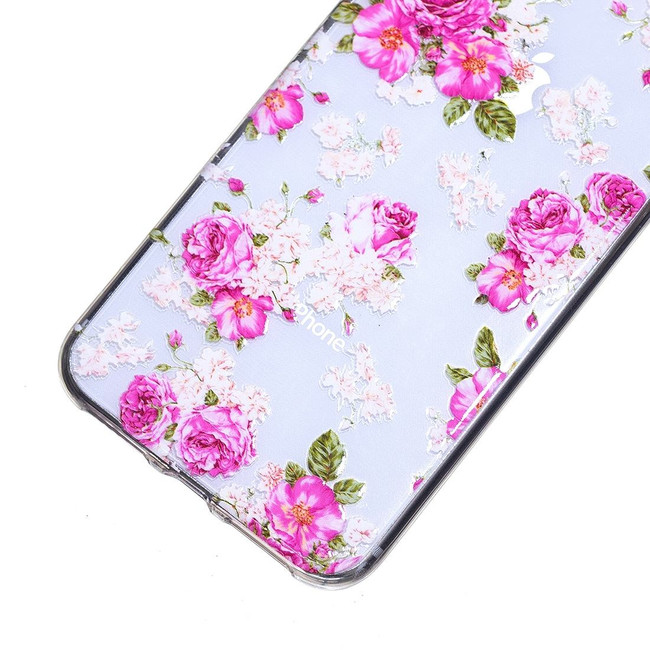 iPhone XS Max Peony Flower Pattern Highly Transparent Soft TPU Protective Cover | Protective Apple iPhone XS Max Covers | Protective Apple iPhone XS Max Cases | iCoverLover