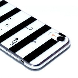 iPhone XR Case Cat in Striped Background Varnish Painting Transparent Soft TPU Back Cover   Protective Apple iPhone XR Covers   Protective Apple iPhone XR Cases   iCoverLover