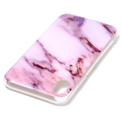 iPhone XR Case Purple Marble Pattern Soft TPU Shockproof Back Shell Cover | Protective Apple iPhone XR Covers | Protective Apple iPhone XR Cases | iCoverLover