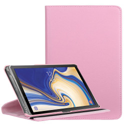 Samsung Galaxy Tab S4 Case Pink Lychee Texture Folio 360 Degrees Rotation Leather Case with Built-in Stand, Anti-Scratch & Shockproof | Leather Samsung Galaxy Tab S4 Covers | Leather Samsung Galaxy Tab S4 Cases | iCoverLover