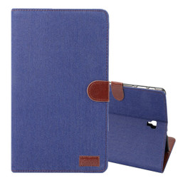 Samsung Galaxy Tab S4 10.5/T830 Case Dark Blue Denim Texture PU Leather Folio Cover with 5 Card Slots, Display Window & Built-in Kickstand | Leather Samsung Galaxy Tab S4 Covers | Leather Samsung Galaxy Tab S4 Cases | iCoverLover