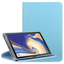 Samsung Galaxy Tab S4 Case Baby Blue Lychee Texture Folio 360 Degrees Rotation Leather Case with Built-in Stand, Anti-Scratch & Shockproof | Leather Samsung Galaxy Tab S4 Covers | Leather Samsung Galaxy Tab S4 Cases | iCoverLover