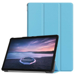 Samsung Galaxy Tab Case S4 10.5 Blue Custer Texture PU Leather Folio Cover with Three-folding Stand, Sleep/Wake Feature | Leather Samsung Galaxy Tab S4 Covers | Leather Samsung Galaxy Tab S4 Cases | iCoverLover