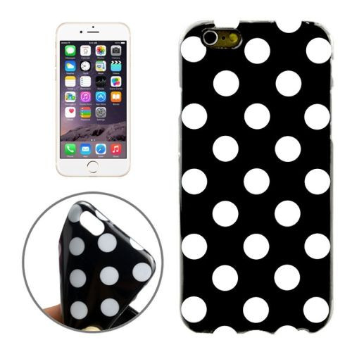 Black and White Polka Dot iPhone 6 Plus & 6S Plus Case   Cool iPhone Cases   iPhone Covers   iCoverLover