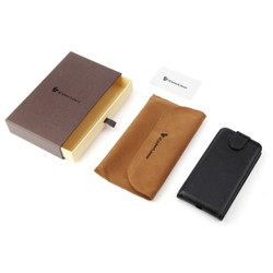 iCoverLover Black Vertical Flip Genuine Leather iPhone XS & X Case | iPhone XS & X Genuine Leather Covers | iPhone XS & X Genuine Leather Cases | iPhone Covers | iCoverLover