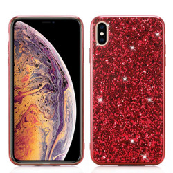 iPhone XS Max Case Red Glitter Powder TPU Soft Case, Scratch-Resistant, Shockproof, Anti-Slip and Elastic | Protective Apple iPhone XS Max Cases | Protective Apple iPhone XS Max Covers | iCoverLover