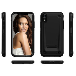 iPhone XR Case Black Slim TPU and PC Double Layer Shockproof Protective Cover with Enhanced Grip and Anti-Scratch  Armor Apple iPhone XR Cases   Armor Apple iPhone XR Covers   iCoverLover