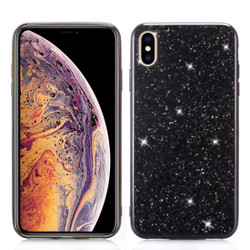 iPhone XR Case Black Glitter Powder TPU Cover With Shockproof Material, Anti-Scratch Exterior, Flexible Body | Protective Apple iPhone XR Cases | Protective Apple iPhone XR Covers | iCoverLover