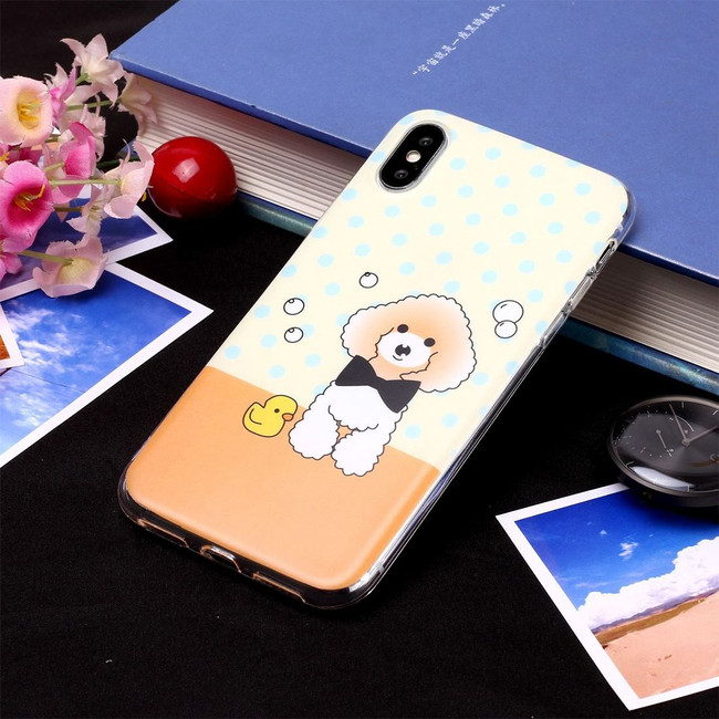 iPhone XR Case Cartoon Dog Pattern Soft TPU Protective Back Cover with Scratch-Resistance, Grippy Texture & Anti-Slip | Protective Apple iPhone XR Cases | Protective Apple iPhone XR Covers | iCoverLover