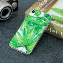 iPhone XR Case Green Leaf Pattern TPU Protective Back Cover with Scratch-Resistant, Enhanced Grip & Impact-proof   Protective Apple iPhone XR Cases   Protective Apple iPhone XR Covers   iCoverLover