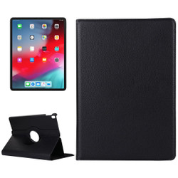 iPad Pro 11 Inch (2018) Case Black Lychee Texture PU Leather Folio Cover With 360 Degrees Rotation Holder | Leather iPad Pro 11 Inch (2018) Cases | iPad Pro 11 Inch Covers | iCoverLover