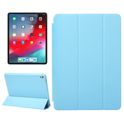 iPad Pro 11 Inch (2018) Case Blue Solid Color PU Leather Folio Cover With Three Fold Stand & Wake/Sleep Function | Leather iPad Pro 11 Inch (2018) Cases | iPad Pro 11 Inch Covers | iCoverLover