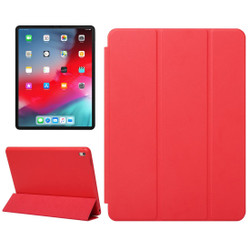 iPad Pro 12.9 Inch (2018) Case Red Solid Color PU Leather Folio Cover With Three Fold Stand & Wake/Sleep Function   Leather iPad Pro 12.9 Inch (2018) Cases   iPad Pro 12.9 Inch Covers   iCoverLover