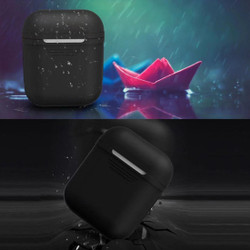 For Apple Airpods 1 & 2 Storage Bag Transparent Silicone Protective Box with Impact-resistant, Scratch-proof and Antiloss   AirPods Accessories   iCoverLover
