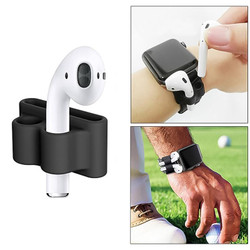 For Apple Airpods 1 & 2 White Shockproof Cover Case Set with Anti-Lost Rope, Silicone Case, Earphone Hang Buckle and Earplug Cover   AirPods Accessories   iCoverLover
