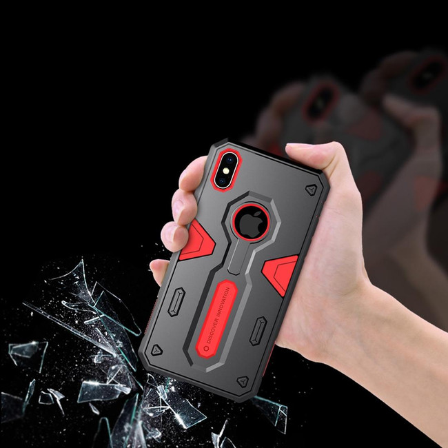 iPhone XS Max Tough Defender II Case Red Shockproof TPU and PC Armour Cover, Shatterproof, Anti Friction Design | Armor Apple iPhone XS Max Covers | Armor Apple iPhone XS Max Cases | iCoverLover