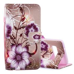 Samsung Galaxy S10 Case Lotus Pattern PU Leather Folio Cover, 2 Interior Card Slots, 1 Cash Pocket, Kickstand, Lanyard | Leather Samsung Galaxy S10 Covers | Leather Samsung Galaxy S10 Cases | iCoverLover