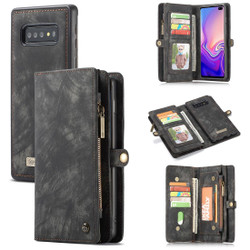 Samsung Galaxy S10 Case Black PU Leather Detachable Cover, 11 Card Slots, 2 Cash Pockets, 2 Photo Frames, Kickstand | Leather Samsung Galaxy S10 Covers | Leather Samsung Galaxy S10 Cases | iCoverLover