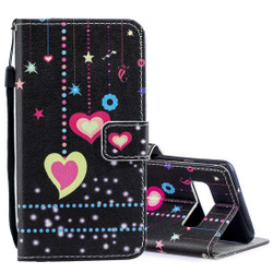 Samsung Galaxy S10 PLUS Case Colored Heart Pattern PU Leather Case with Built-in Kickstand Holder & Shockproof   Leather Samsung Galaxy S10 Plus Covers   Leather Samsung Galaxy S10 Plus Cases   iCoverLover