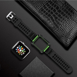 Armour Apple Watch 4 (44 mm) Watch Strap Green TPU & PC Protective Cover, Shockproof, Breathable   Armour Apple Watch Bands   iCoverLover