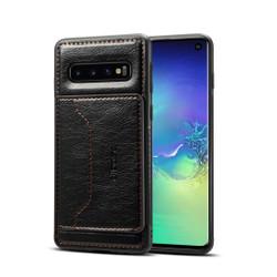 Samsung Galaxy S10e Case Black Wild Horse Texture TPU & PC & PU Leather Protective Cover, Card Slot, Kickstand | Leather Samsung Galaxy S10e Covers | Leather Samsung Galaxy S10e Cases | iCoverLover