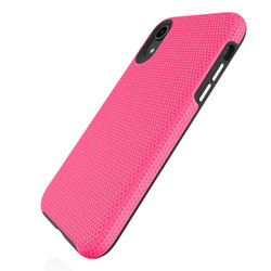 iPhone XR Case Pink Shockproof PC & TPU Armor Protective Back Shell Cover | Armor Apple iPhone XR Covers | Armor Apple iPhone XR Cases | iCoverLover