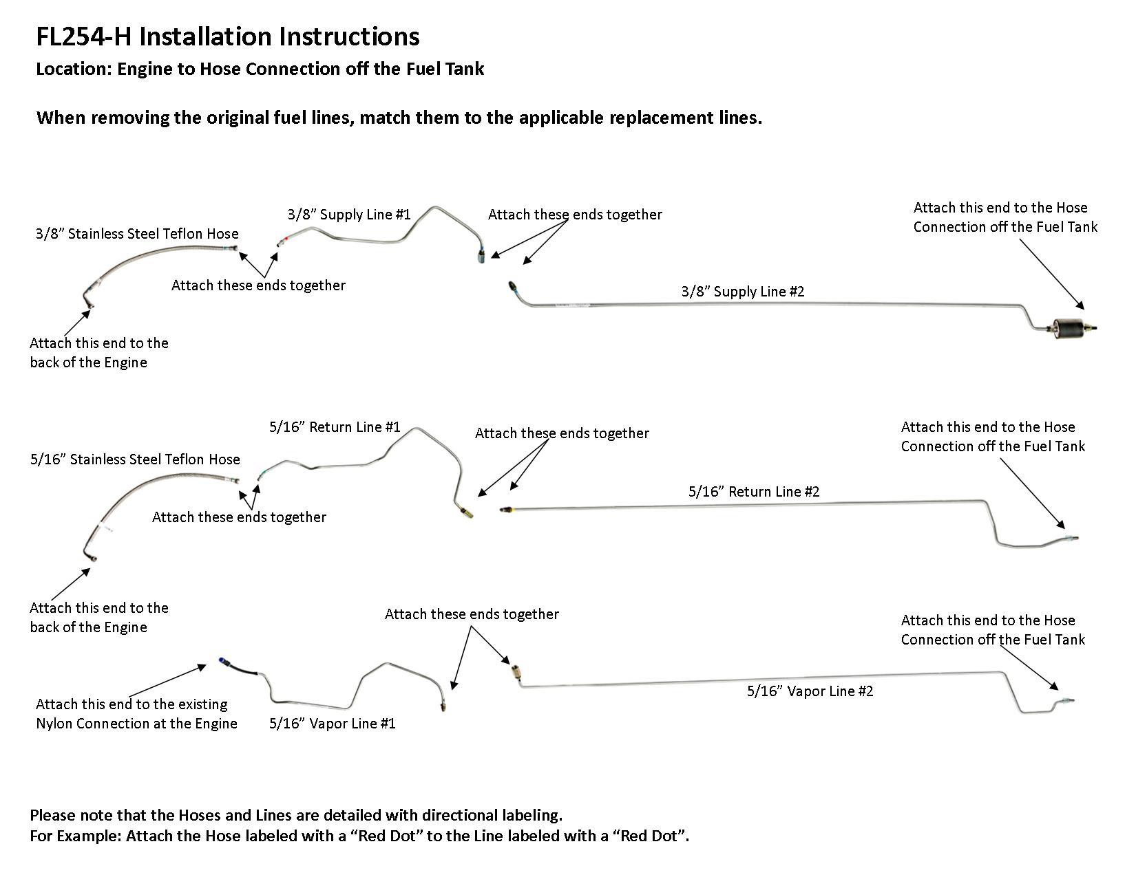 [WLLP_2054]   FL254-H Installation Instructions - Lines To Go | Impala 3 8 Engine Diagram |  | LinesToGo