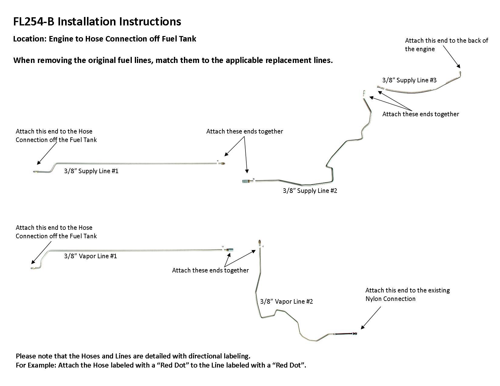 [SODI_2457]   FL254-B Installation Instructions - Lines To Go | Impala 3 8 Engine Diagram |  | LinesToGo