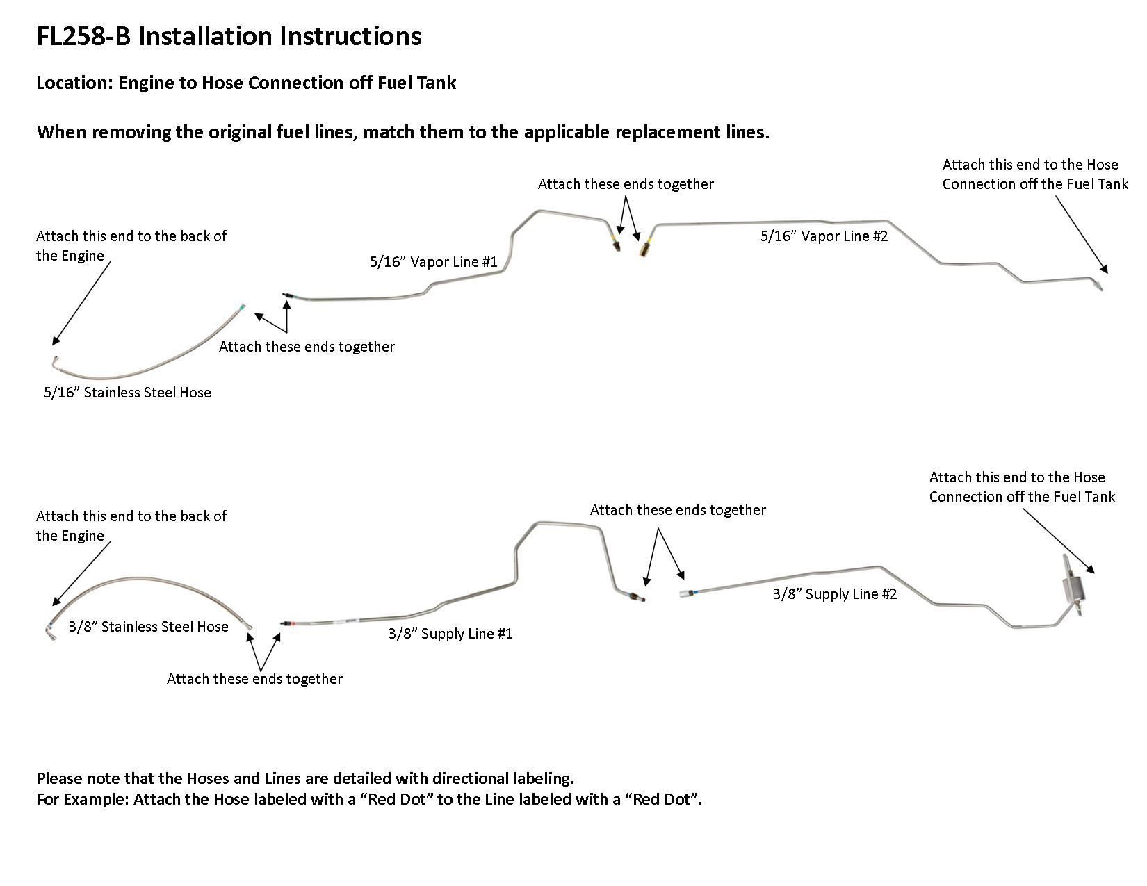 FL258-B Installation Instructions - Lines To Go