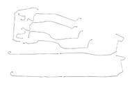 "Escalade Brake Line Set 2004 C/K1500 2WD & 4WD w/6 ABS Line Ports 130"" WB BLC-118-SS1B Stainless Steel Set"