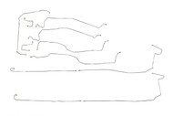"Suburban Brake Line Set 2004 C/K1500 2WD & 4WD w/6 ABS Line Ports 130"" WB"