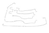 """Yukon XL Brake Line Set 2006 C/K1500 2WD & 4WD w/5 ABS Line Ports 130"""" WB BLC-136-SS4D Stainless Steel Set"""