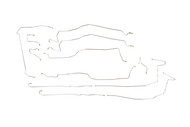 """Tahoe Brake Line Set 2003 C/K1500 2WD & 4WD w/6 ABS Line Ports 116"""" WB BLC-142-SS2A Stainless Steel Set"""