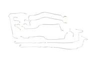 "Tahoe Brake Line Set 2004 C/K1500 2WD & 4WD w/6 ABS Line Ports 116"" WB BLC-142-SS2B Stainless Steel Set"