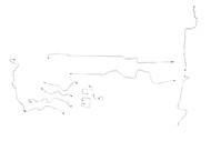 Dakota Brake Line 2000 2WD Club Cab, 6.5ft w/Rear Wheel Anti-lock Brakes RPO Code BGJ