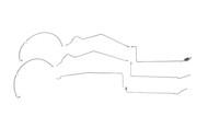 Pontiac Bonneville SSE Fuel Line 1997 4 Door 3.8L (K) FL254-L10B Set