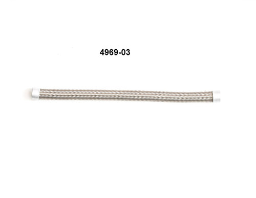 "Hose, Stainless Steel Braided Teflon, 1/2"", 9"" Length"