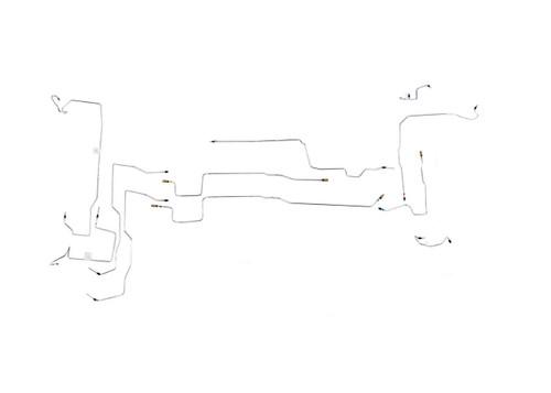 Swift Brake Line Set 2004-2005 w/o ABS Stainless Steel Set